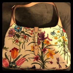 Gucci floral print purse